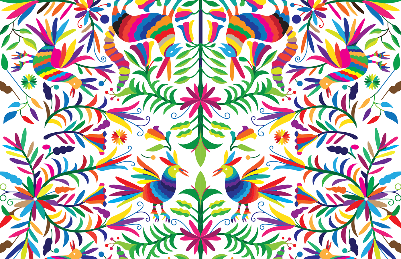 vector black and white stock otomi vector patterns on Behance