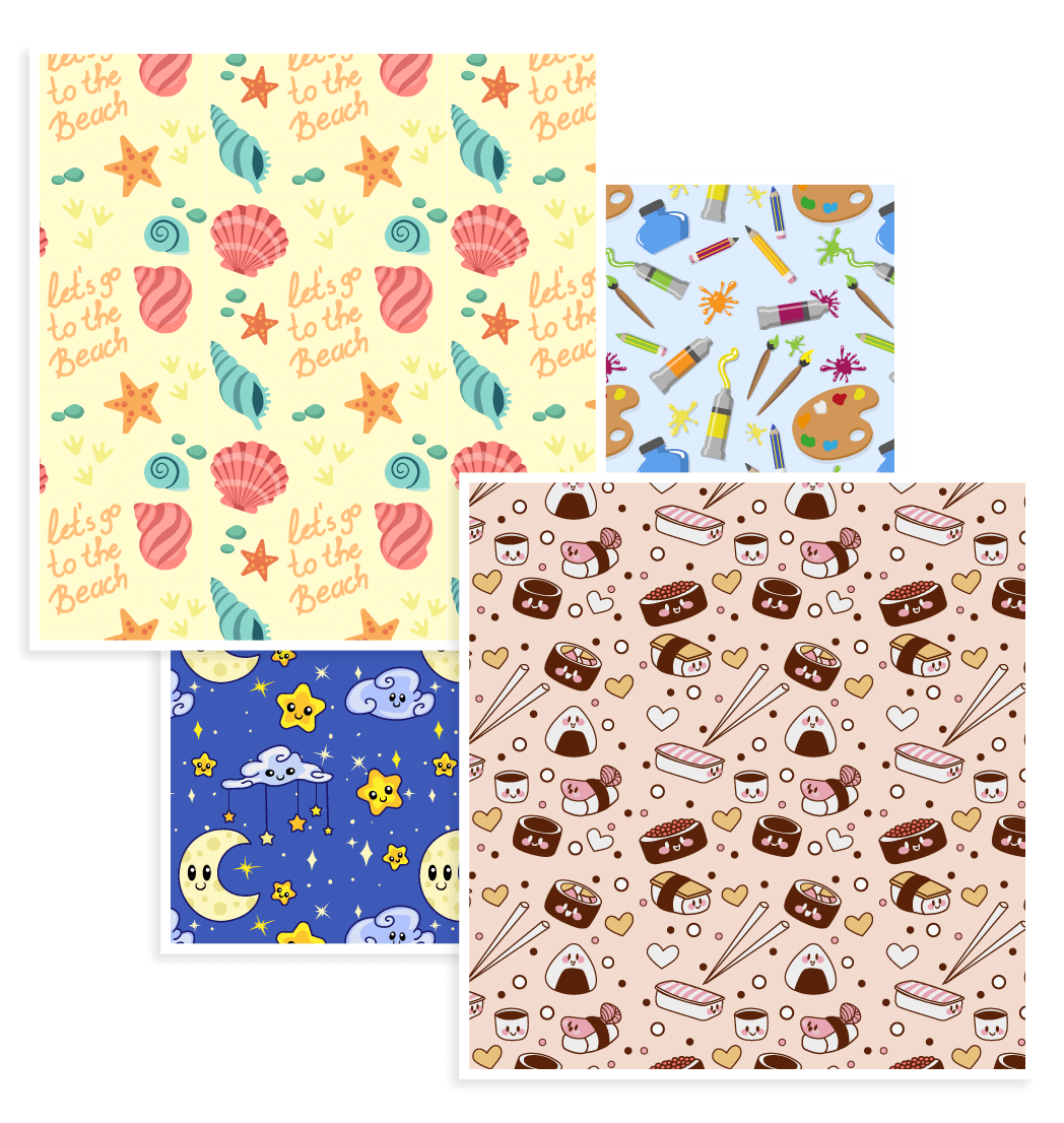 free download Vector cartoons pattern. Free patterns celebrations flowers