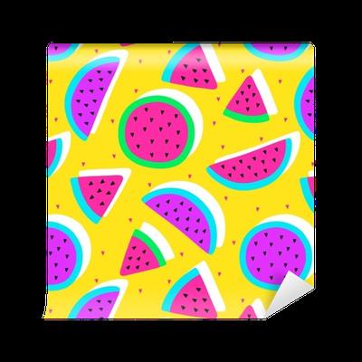 clip transparent library Vector cartoons pattern. Seamless watermelon fruit crazy