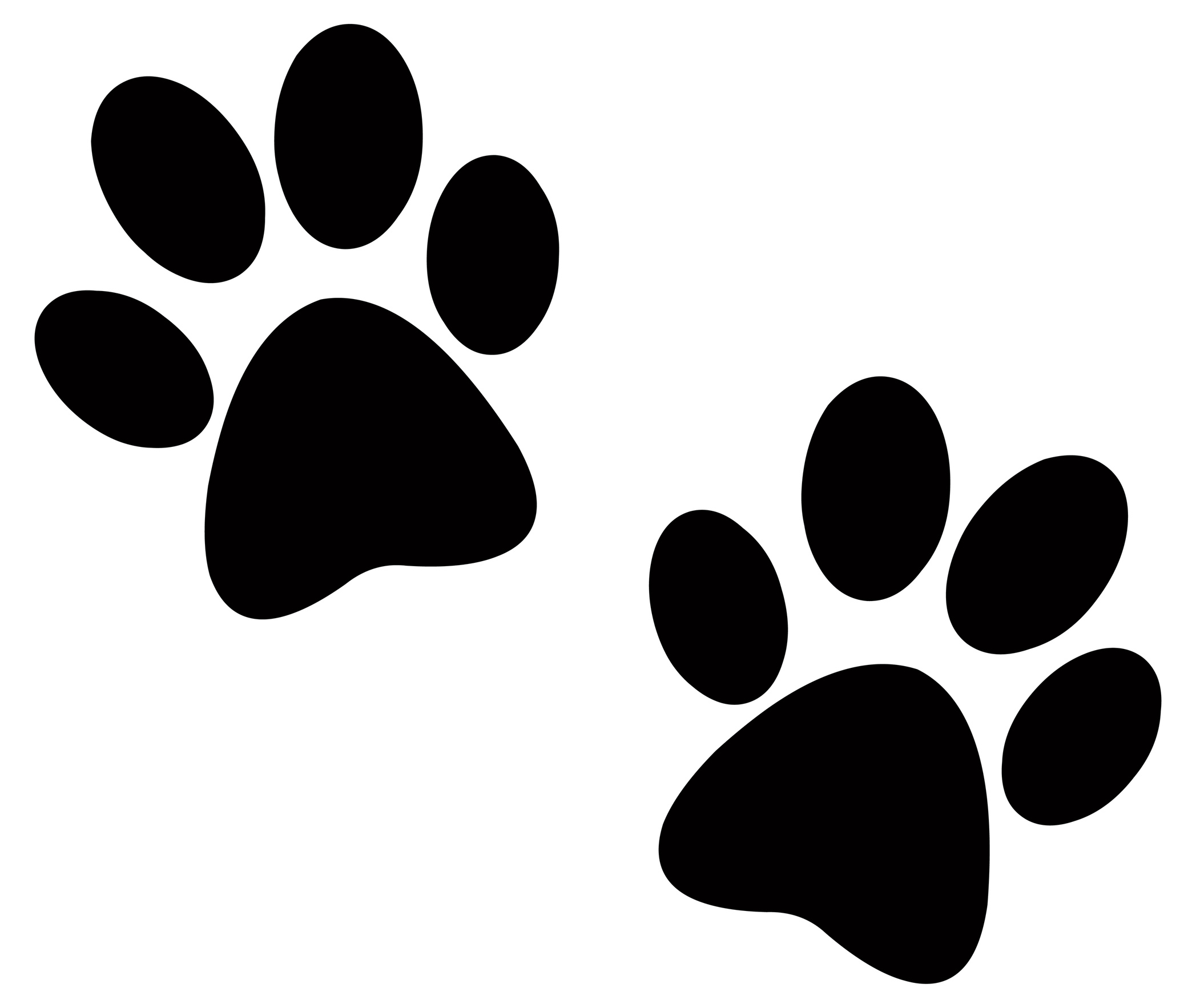 banner freeuse stock Prints print black and. Paw clipart