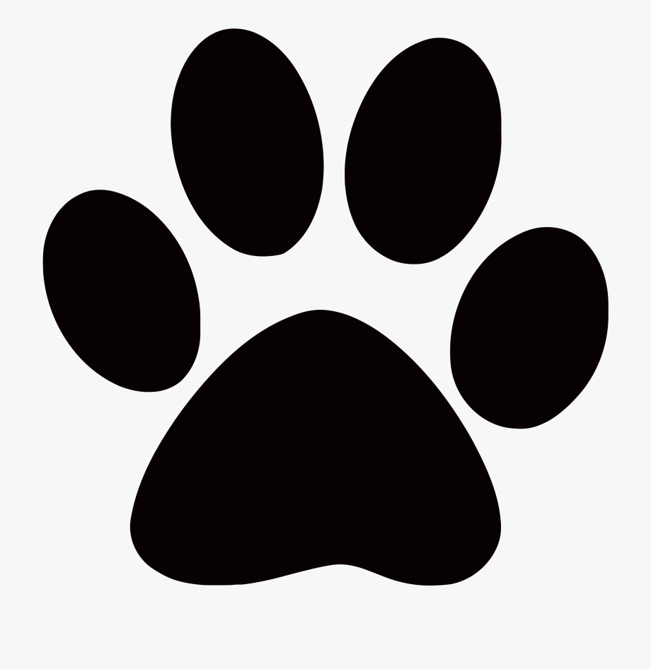 clip black and white download Dog print images clip. Paw clipart