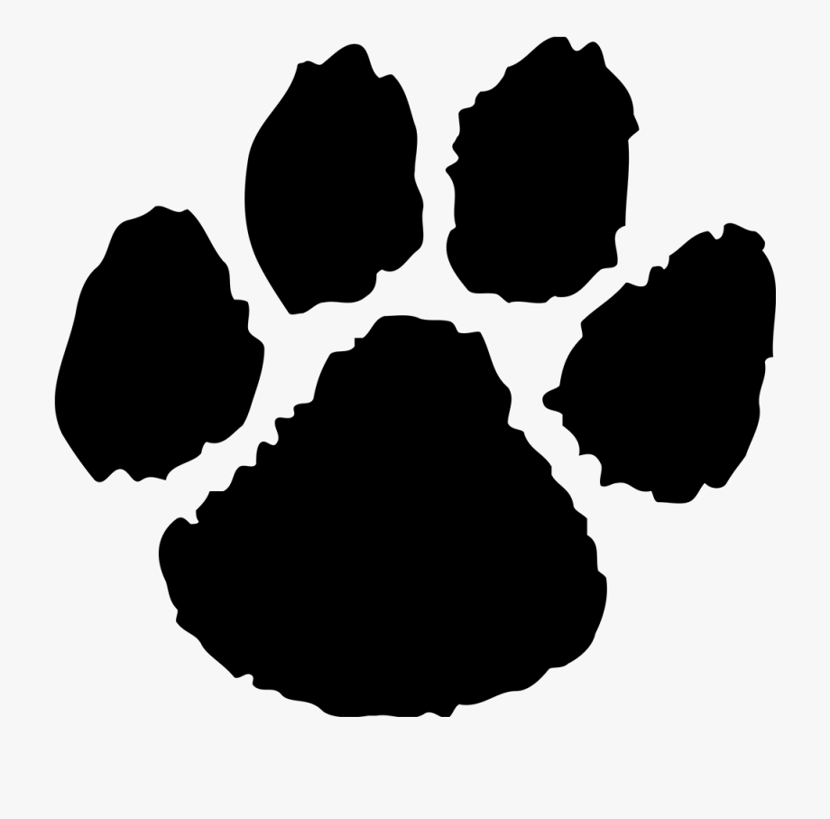 banner royalty free stock Paw clipart. Panther free cliparts on