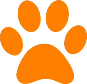 graphic library library Paw clipart. Orange print clip art