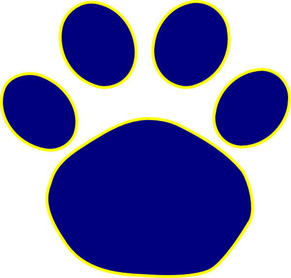 clipart free library Jaguar Paw Print In Gold Clip Art Vector Online clipart