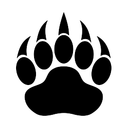 freeuse download Bear claw clipart. Paw print silhouette scrolling