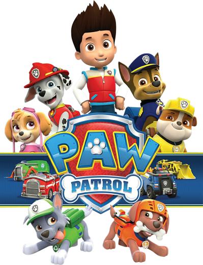 banner black and white library Paw patrol free clipart