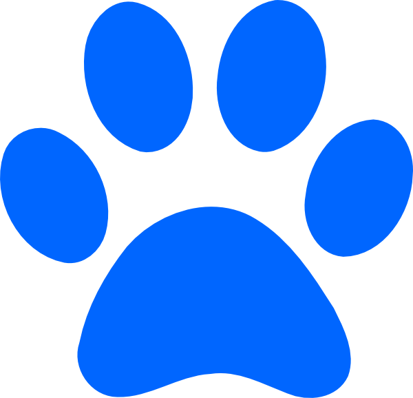 image library Blue paw print clip. Pawprint clipart
