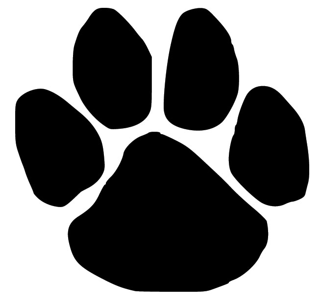vector royalty free stock Pawprint clipart. Free dog paw print