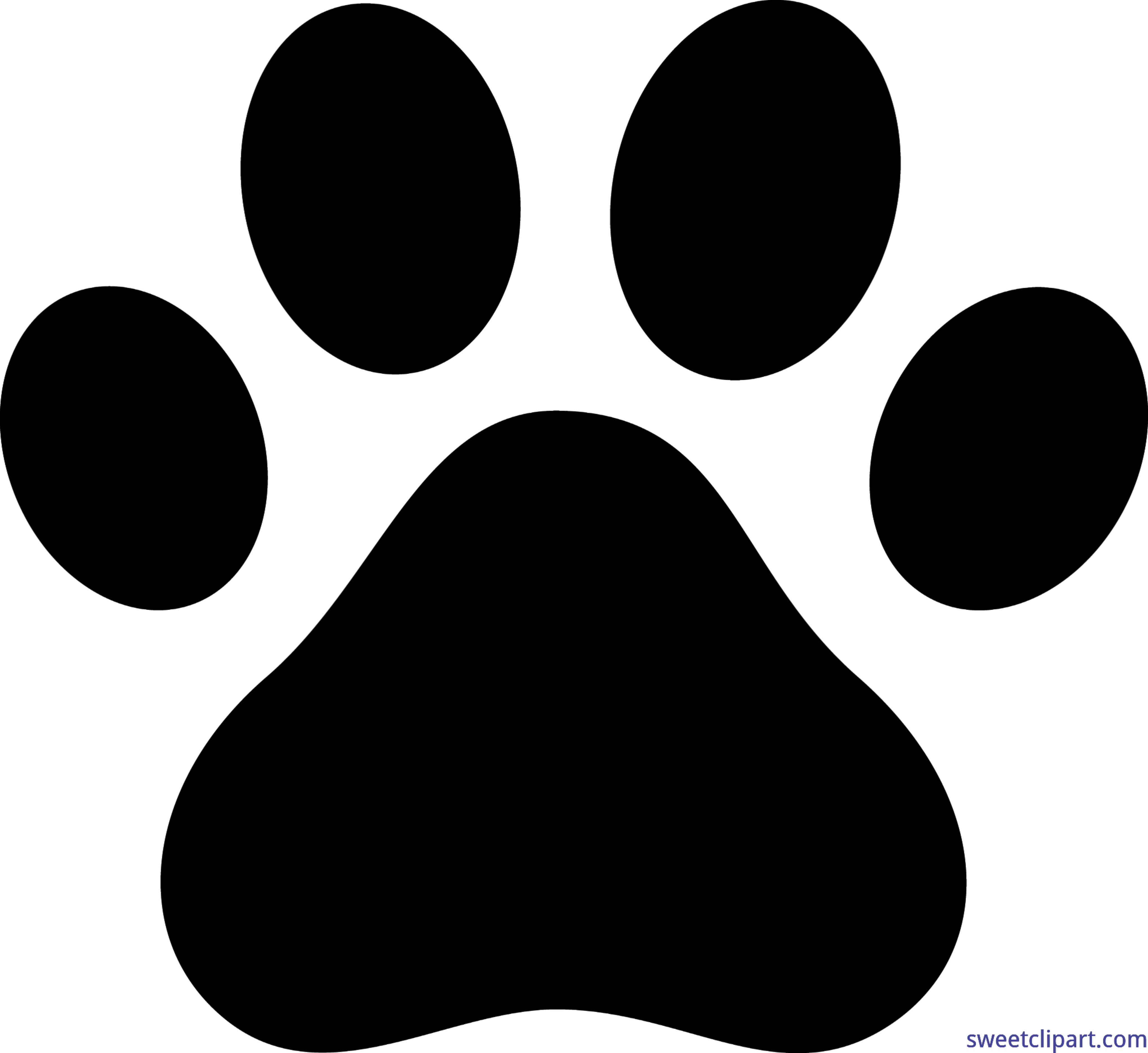 clip free stock Dog paw print black. Claw vector clip art