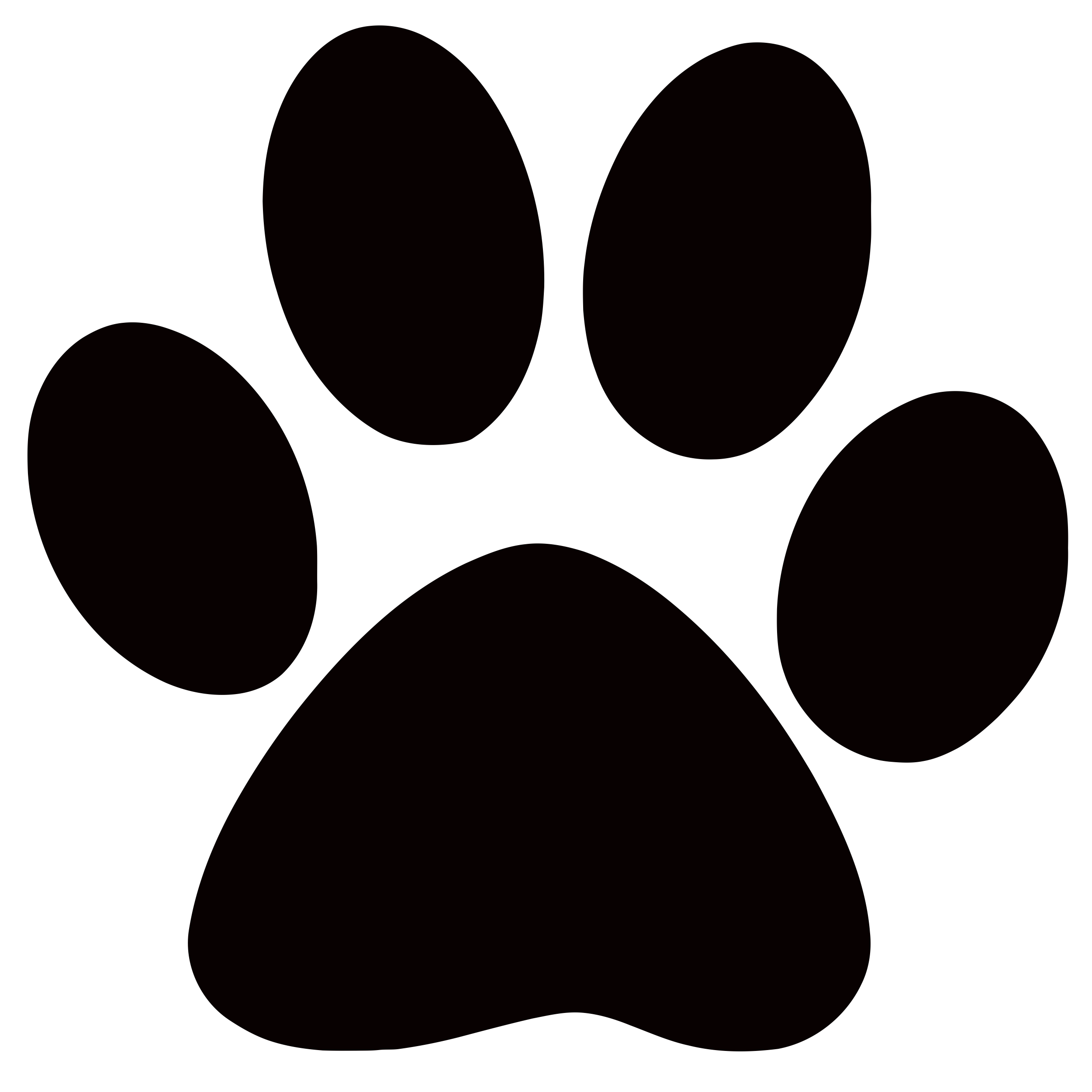 vector transparent download Panther Paw Print Clip Art