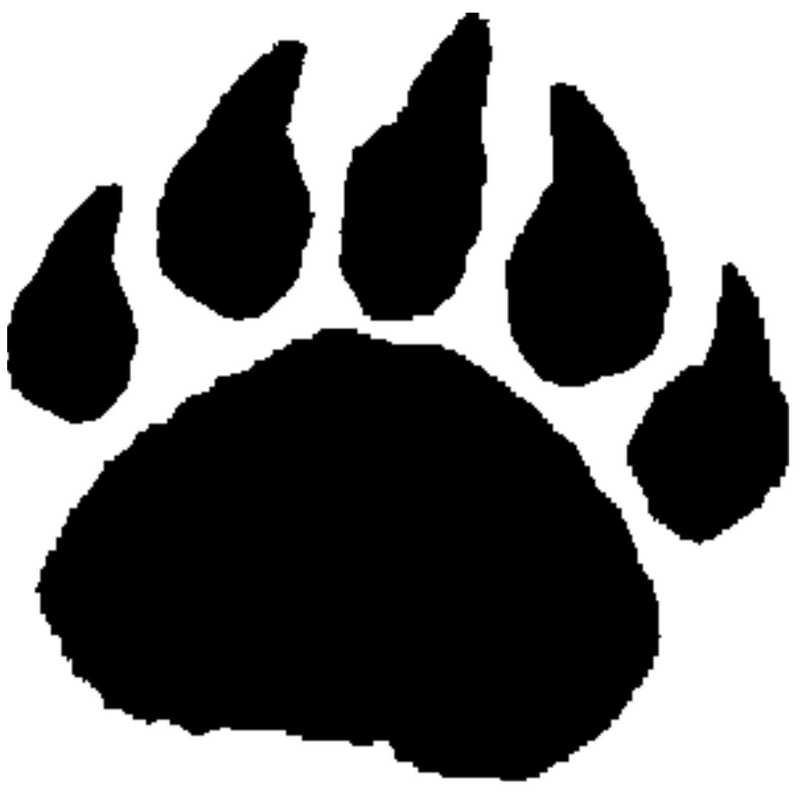 graphic freeuse stock Paw print cub clip. Bear claw clipart