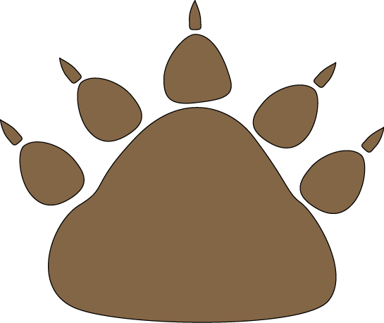 graphic royalty free Clip art images brown. Bear paw clipart