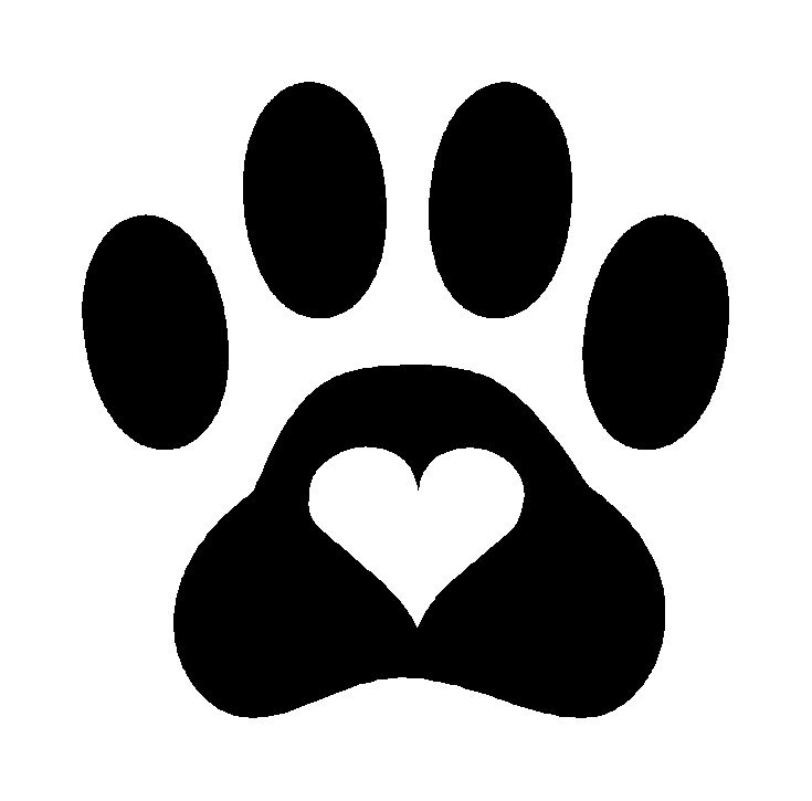 jpg freeuse download Free dog paw print. Pawprint clipart cute