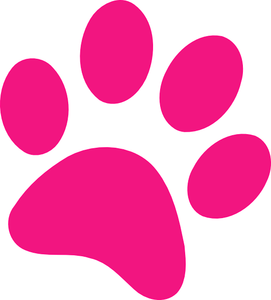 svg black and white Pawprint clipart cute. Paw print pink clip