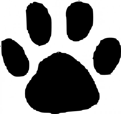 clip art library stock Pawprint clipart panda. Paw print clip art.