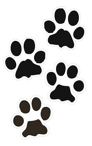 png freeuse library Pawprint clipart panda. Paw print clip art