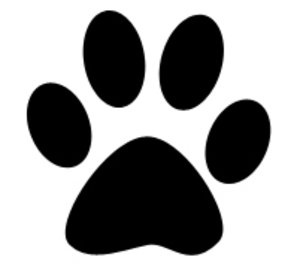 picture freeuse library Free images at clker. Pawprint clipart panda.