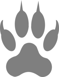 image royalty free stock Gray Paw Print Clip Art at Clker