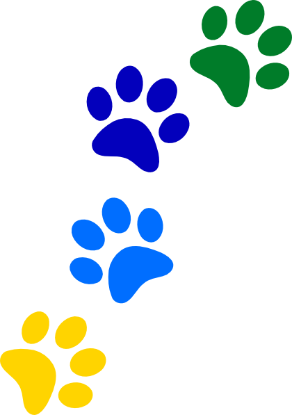graphic black and white library Paws clipart. Rainbow clip art at