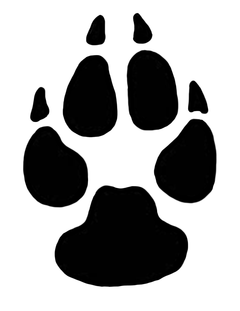 picture free dog paw print
