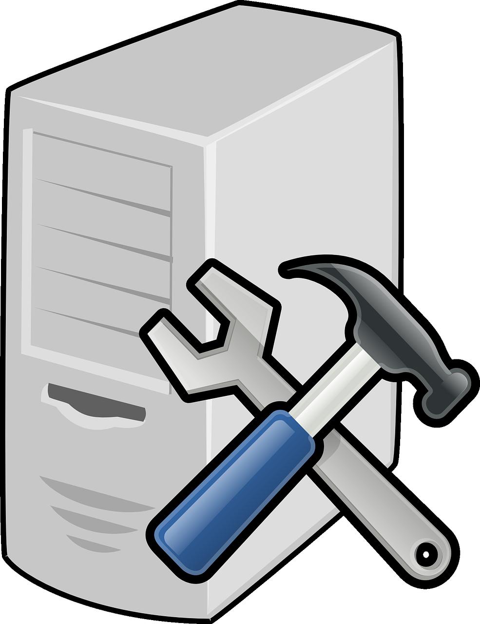 clipart download Repairs grenfell internet centre. Vector computer fix