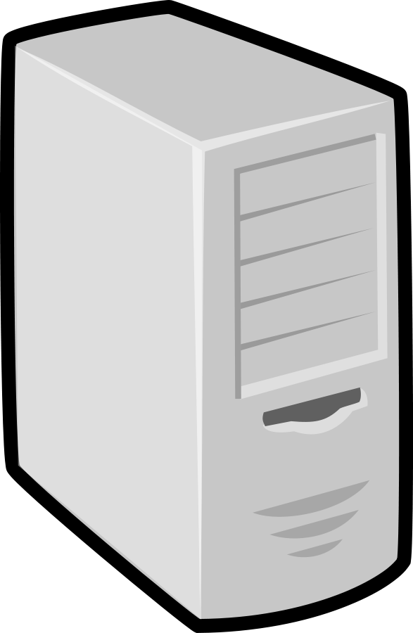 black and white library Server PNG Image