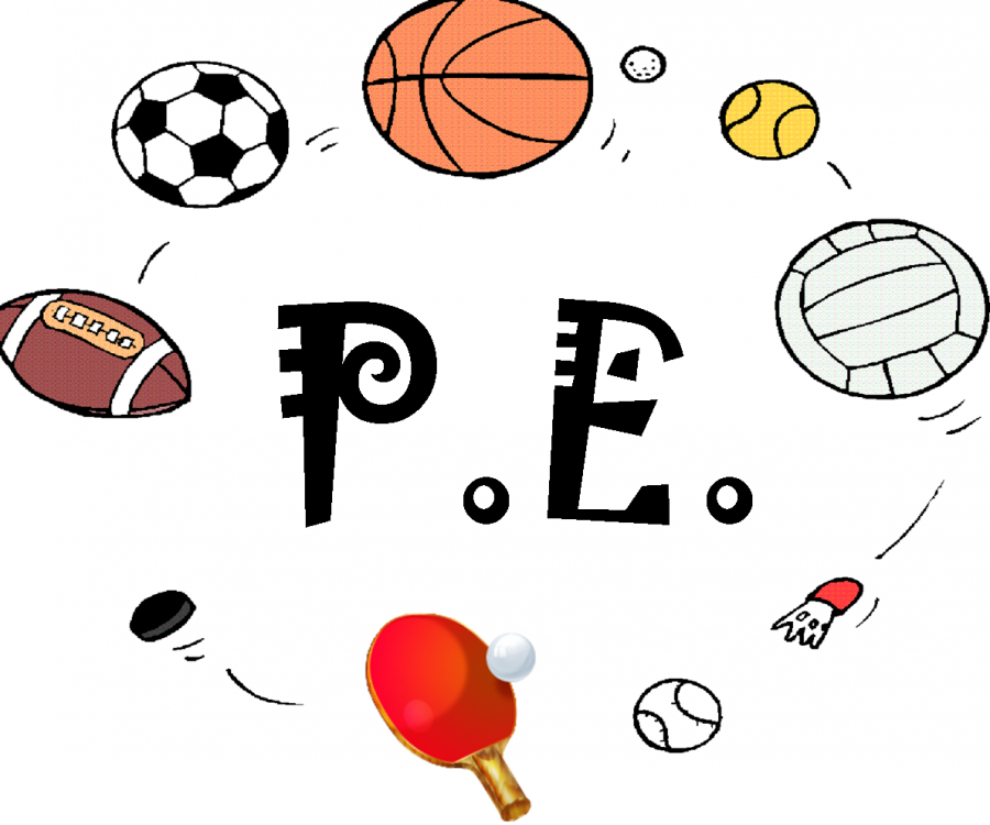 svg royalty free stock Physical education p e. Clipart pe