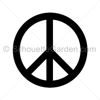 clip art royalty free Peace sign silhouette clip art