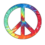 banner black and white Tie Dye Peace Sign by paranormaltees