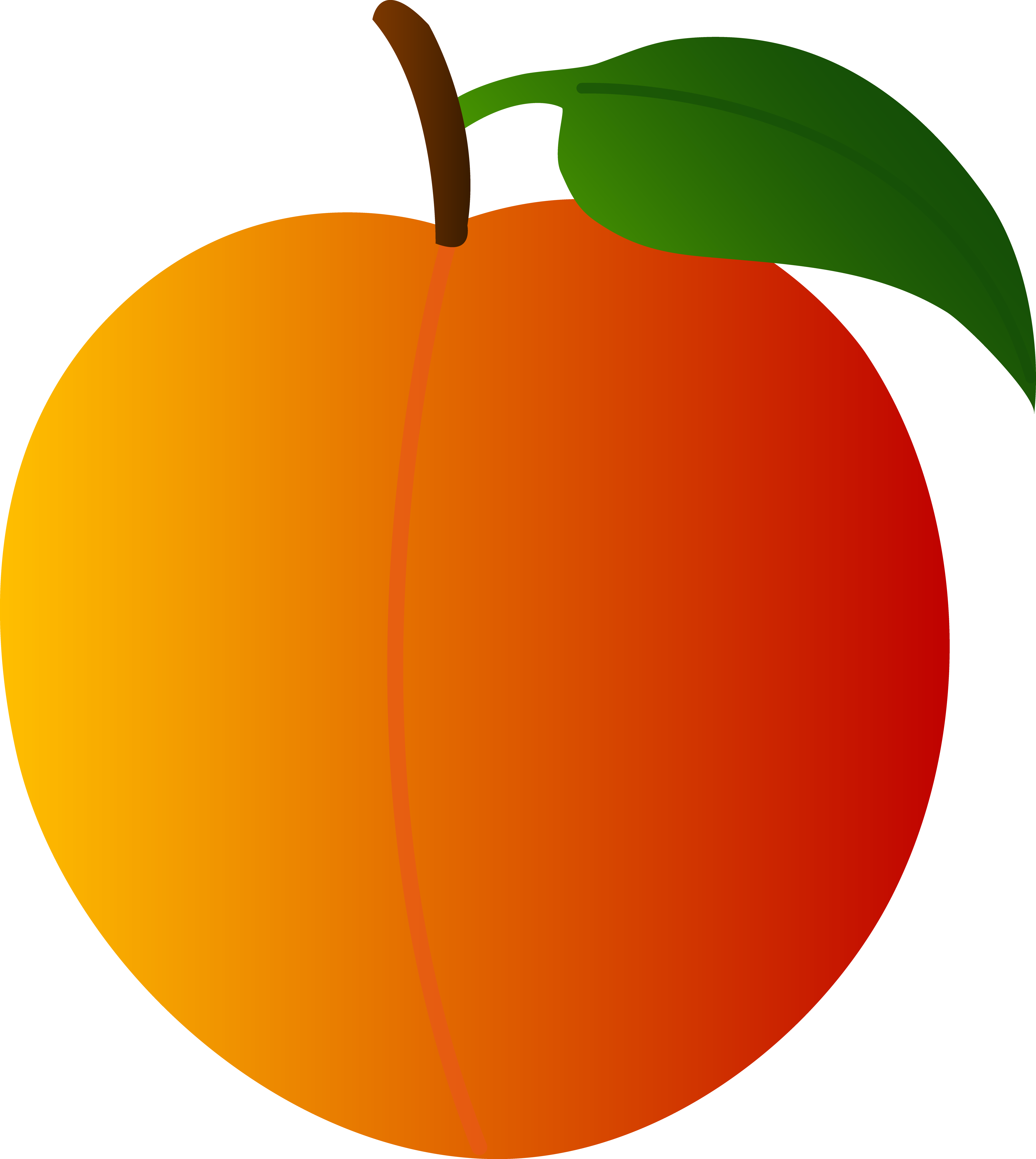 jpg free download Peach clipart. Clip art black and