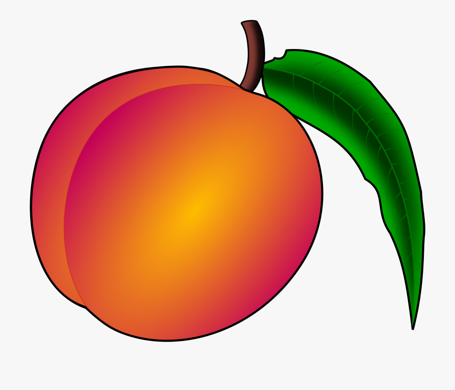 image transparent Peach clip art free. Peaches clipart