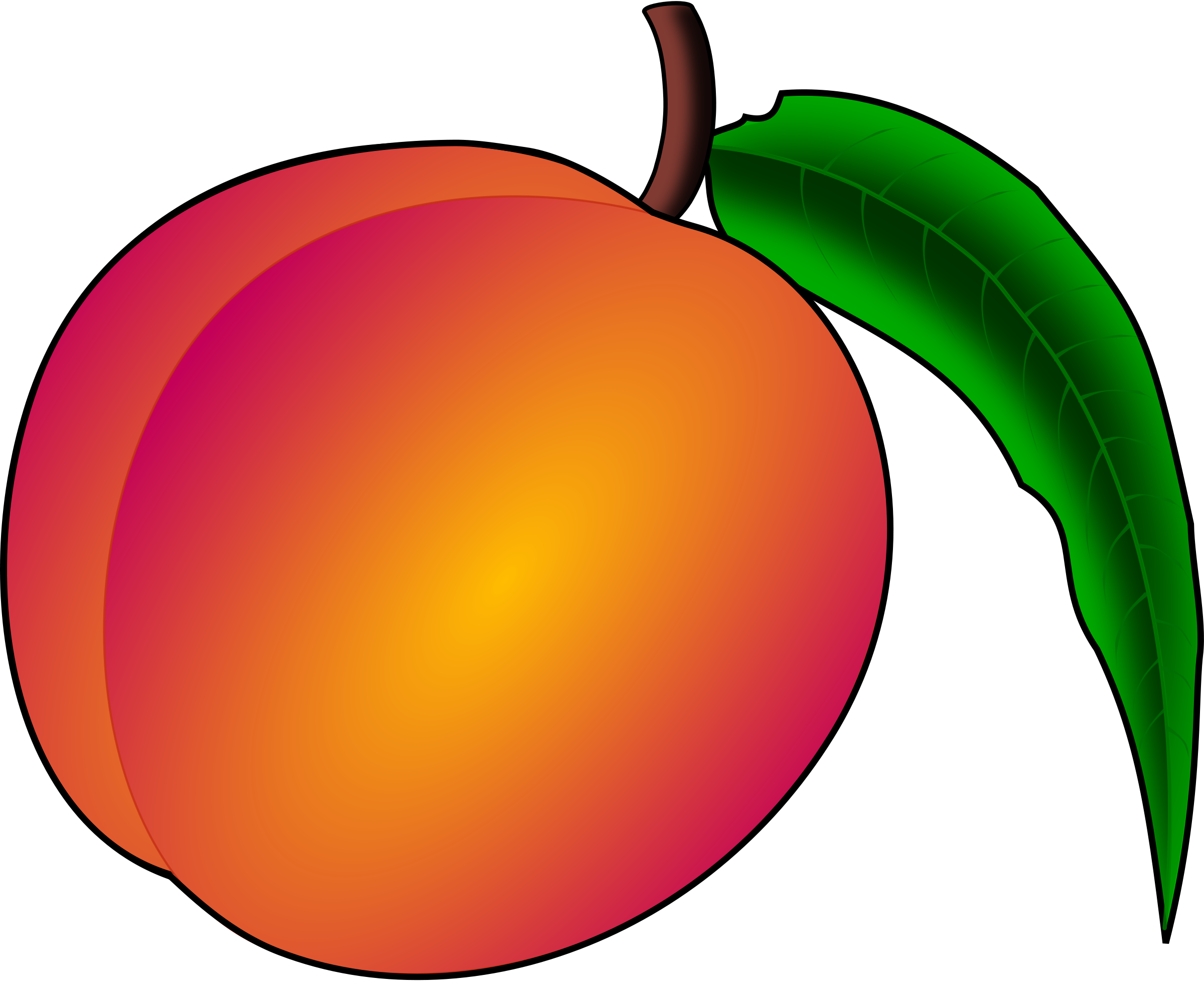 stock Peach clipart.