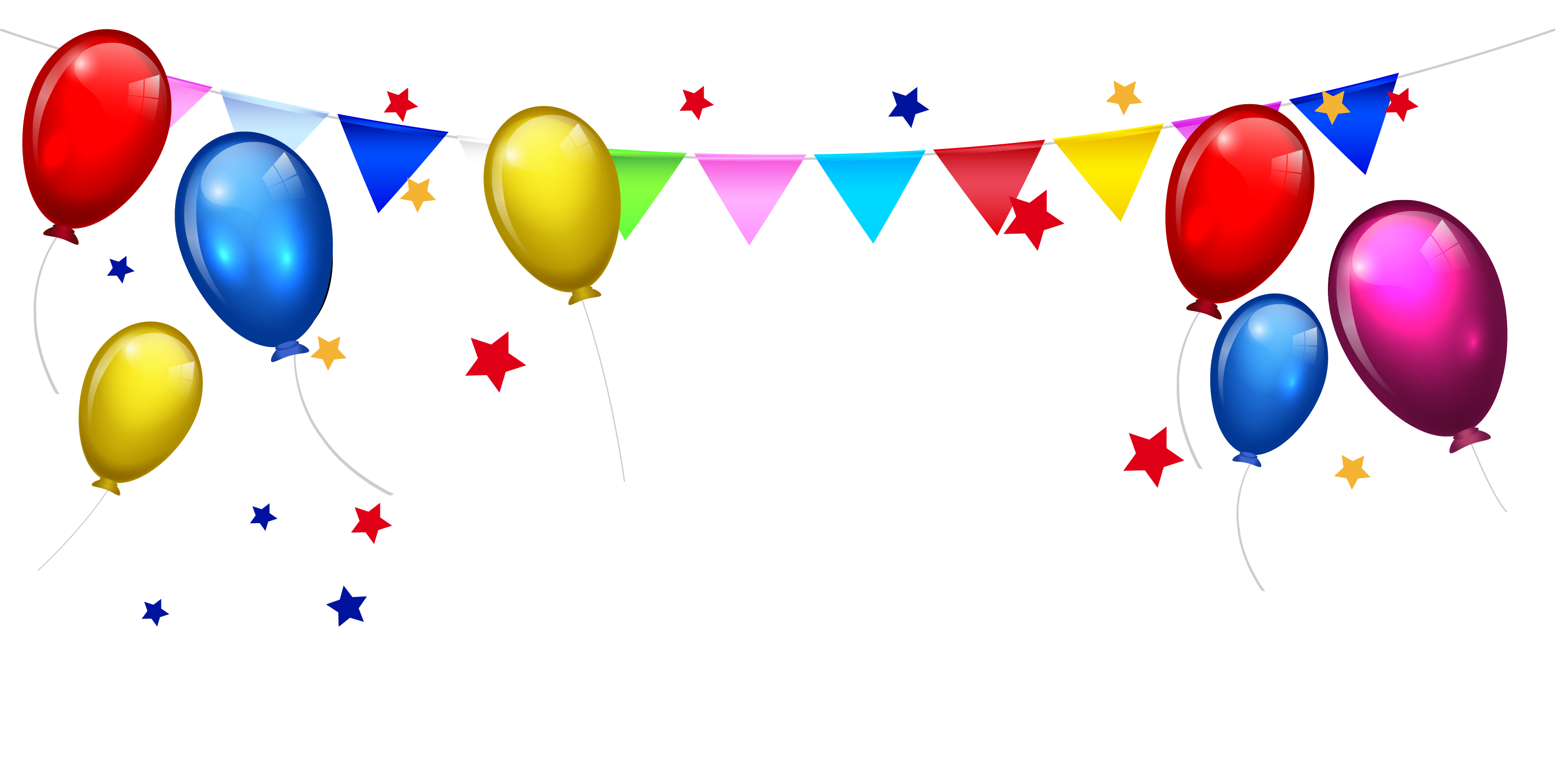 banner royalty free library Balloon borders clipart. Birthday cake cartoon clip.