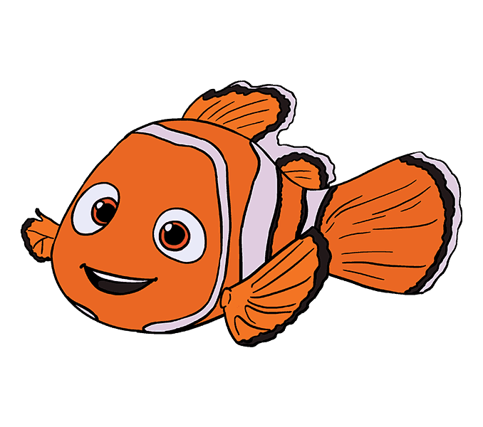 vector royalty free stock Nemo Dory Drawing Clip art