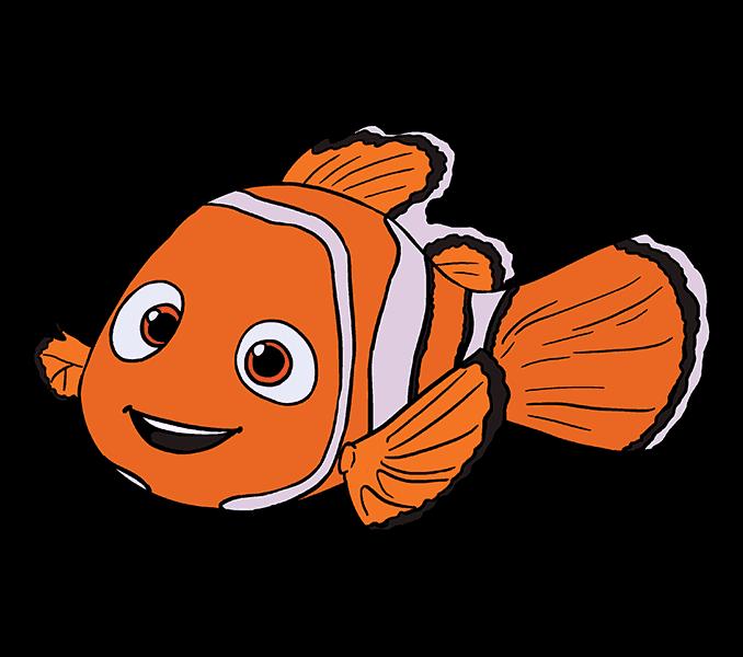 vector royalty free stock Nemo Dory Drawing Clip art