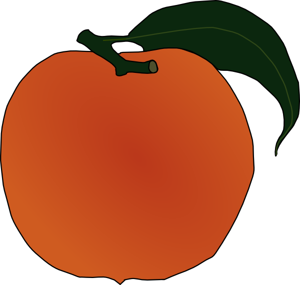 clip library stock Peach Clip Art at Clker