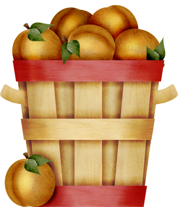 clip art library download peaches clipart basket peach #81752859
