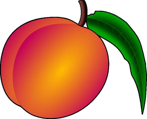clip black and white Coredump Peach Clip Art at Clker