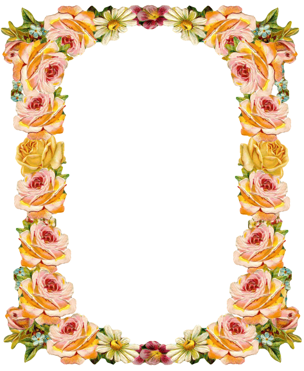 svg library library Free digital vintage flower frame