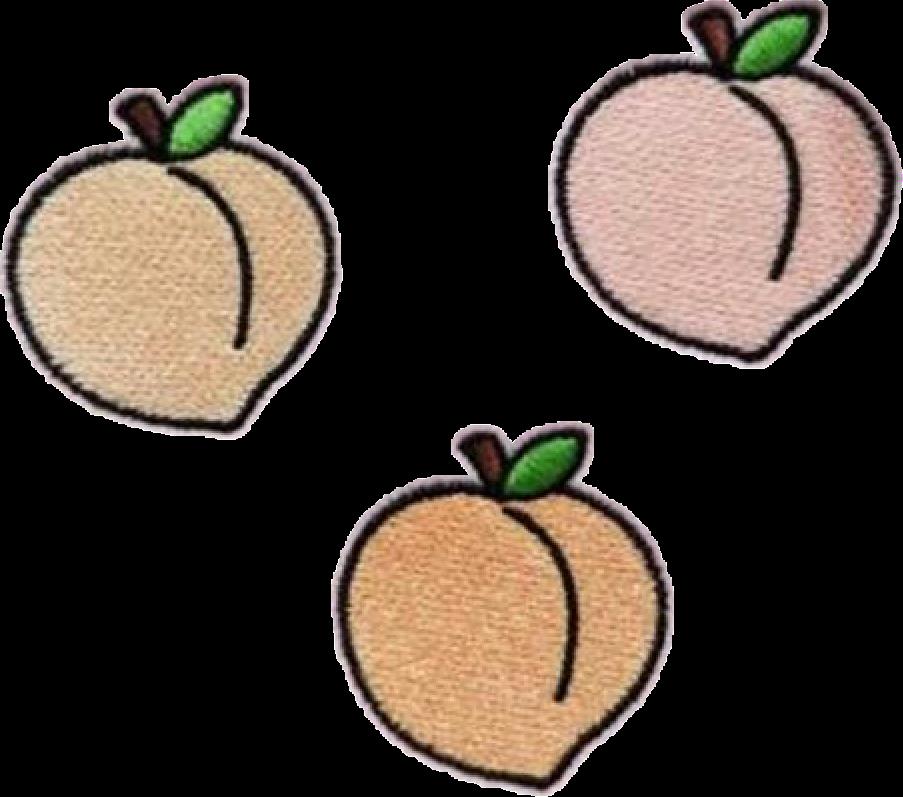 clip art freeuse stock peach peachy peaches fruit tumblr patch grunge FreeToEd