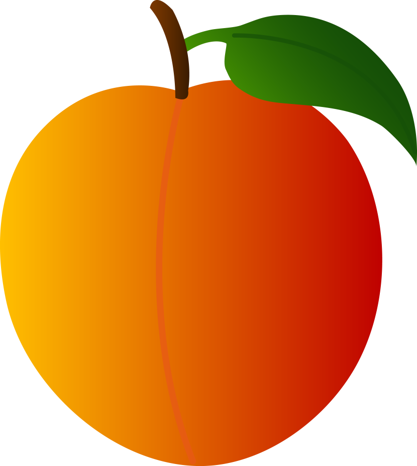 clip free stock Peach Clipart
