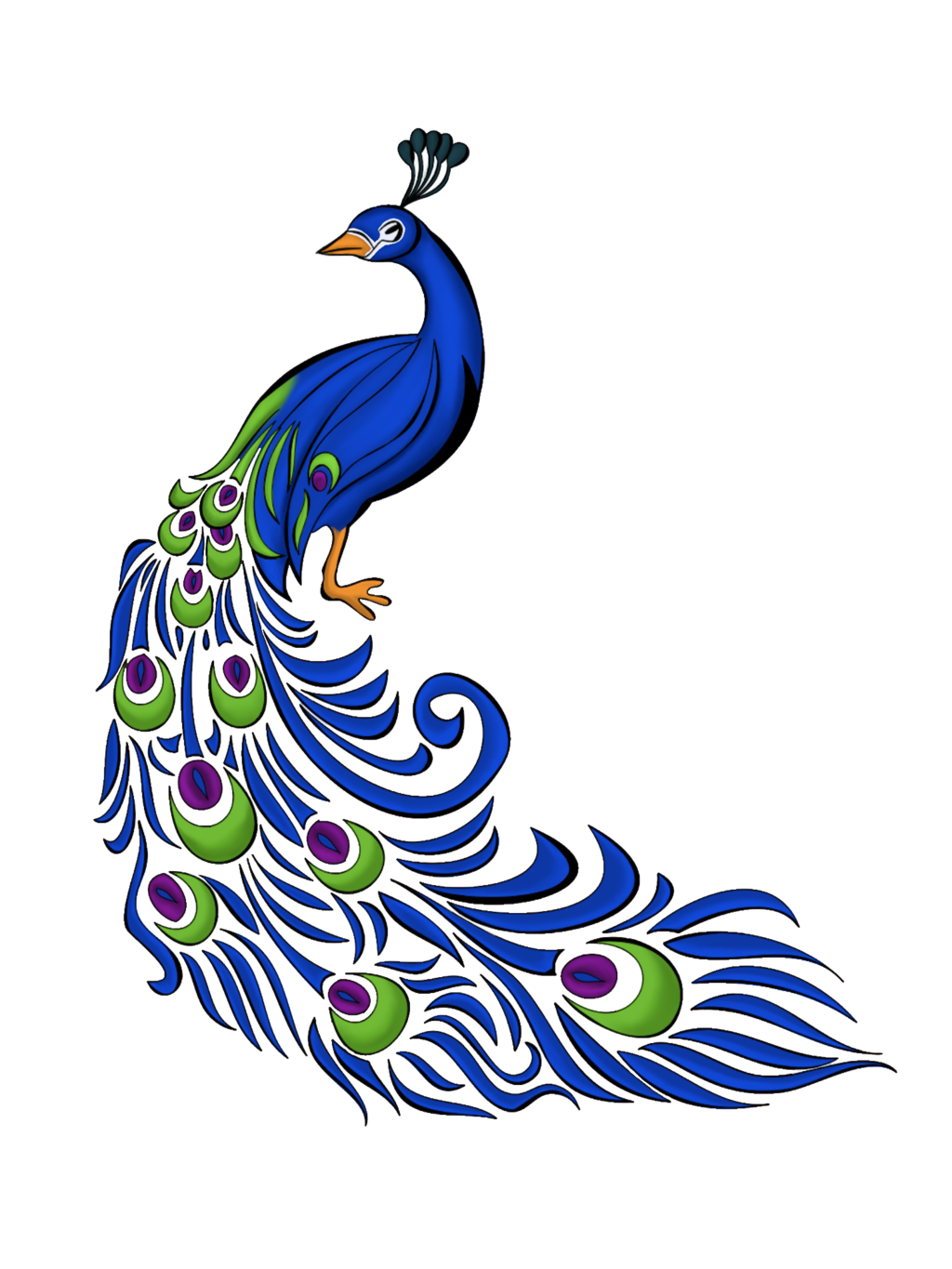 jpg royalty free library Peacock Feather Vector Free Graphics And Art