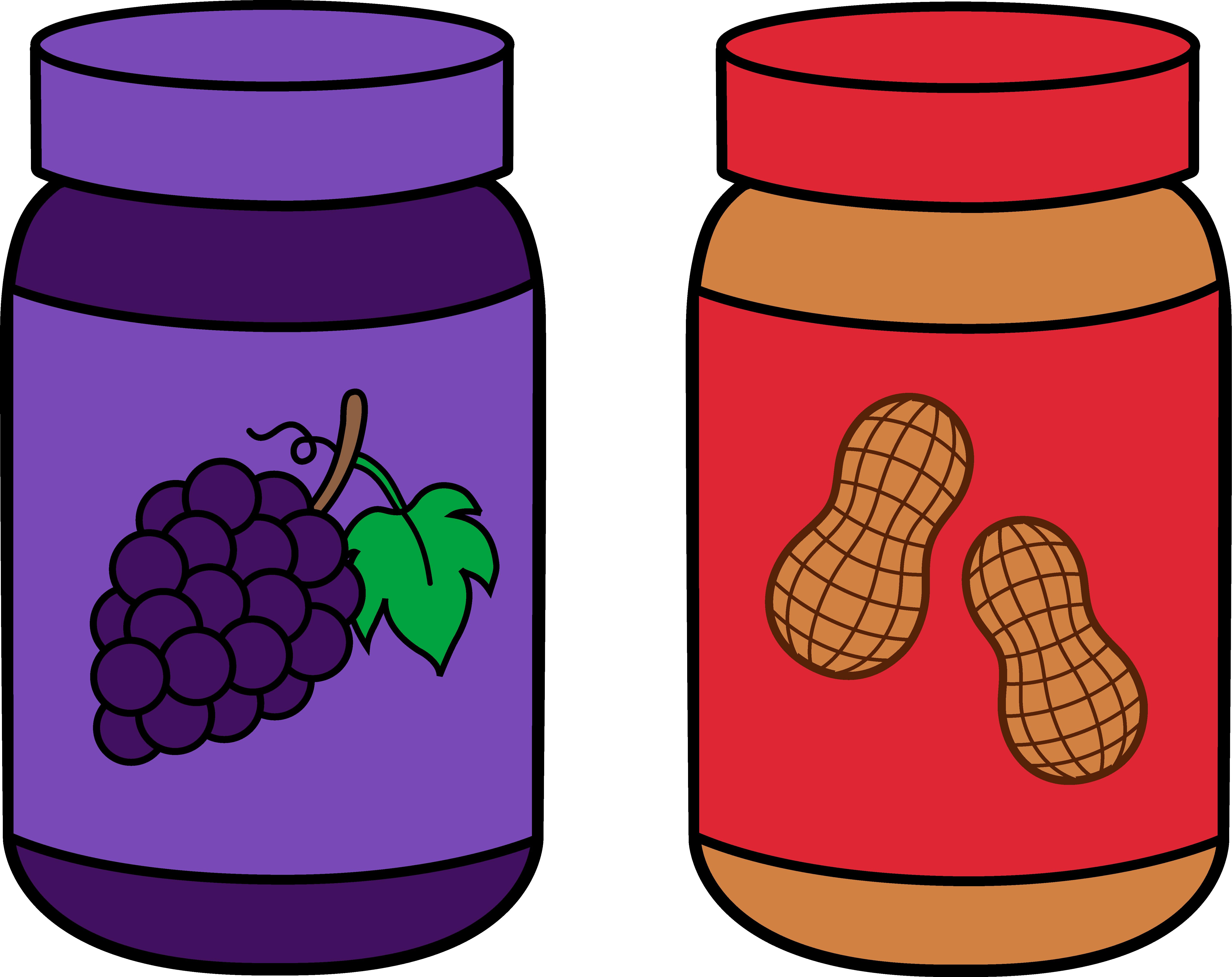 clip stock Peanut butter jar clipart. Drawing storage food