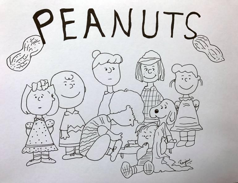 clip royalty free Peanuts drawing. .