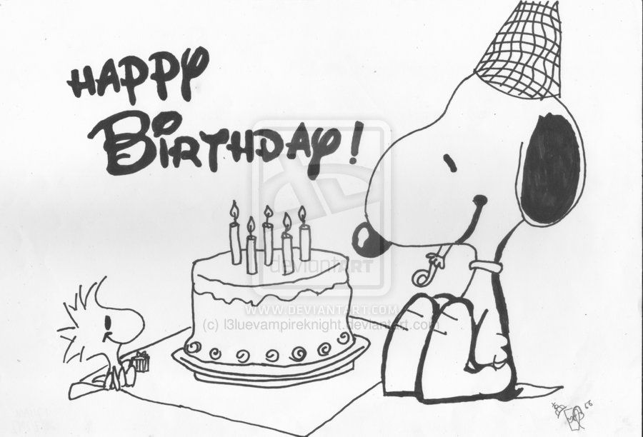 vector free library drawings for Happy Birthday