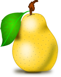 clip art transparent Pear Clip Art by vansc