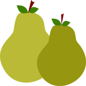 svg library Pair Of Pears Clipart