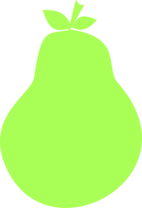 svg library library Green Pear Silhouette Clip Art at Clker