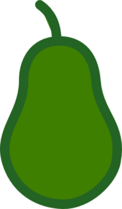vector royalty free stock Green Pear Outline Clip Art at Clker