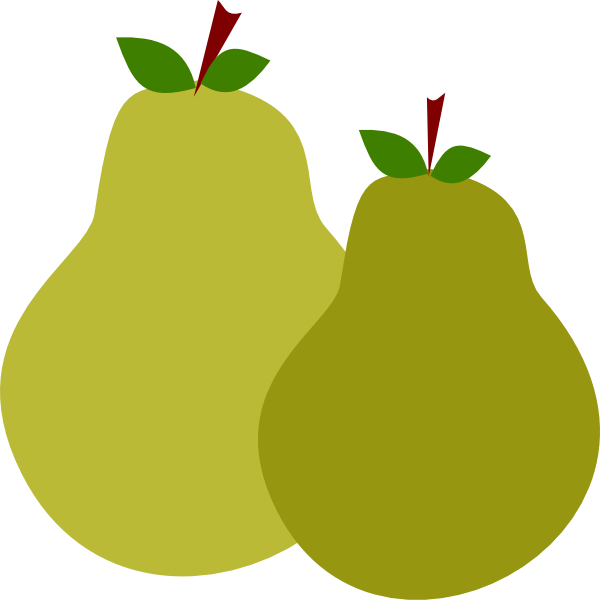 clipart black and white stock Pair Of Pears Clip Art at Clker